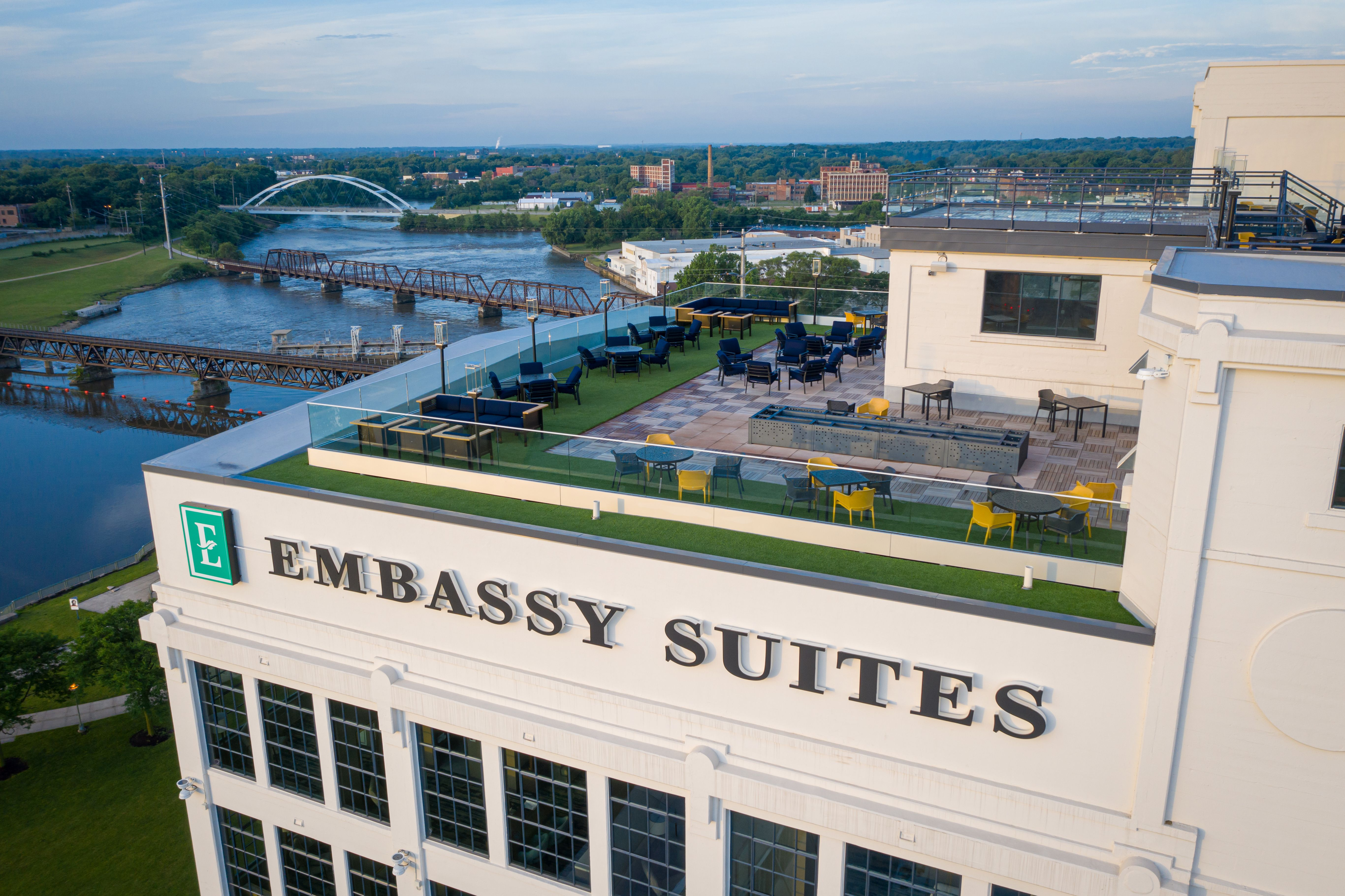 Embassy Suites Rockford rooftop